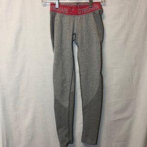 Gymshark Flex Leggings Light Grey Pink Waist S